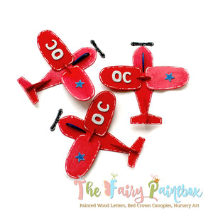 3D Airplane Monogram Wall Hanging - Airplane Nursery Room Wall Decor