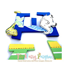 Off to the Zoo Nursery Room Wall Letters - Zoo Safari Kids Room Painted Wood Letters
