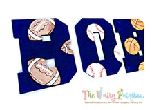Sports Ball Nursery Room Wall Letters - Sports ball Painted Wood Letters - Multi Sports