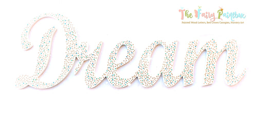 Sparkle Nursery Room Wall Letters - Swarovski Crystal Painted Wood Letters - Dreamy Diamond/Blue