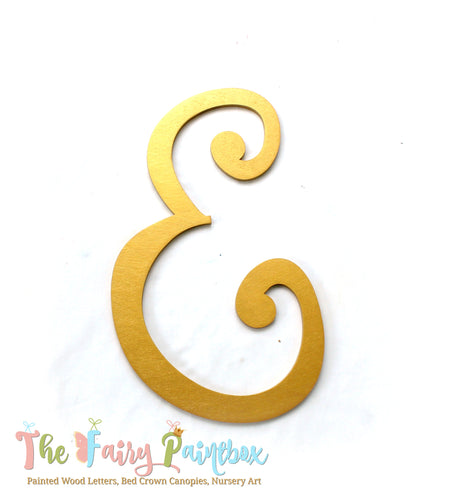 Gold Monogram Nursery Room Wall Letters - Gold Monogram Painted Wood Letters