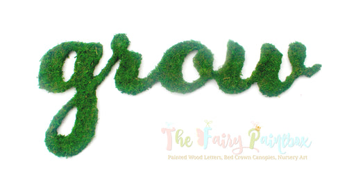 Moss Nursery Room Wall Letters - Moss Covered Wall Letters - Moss Wood Wall Letters
