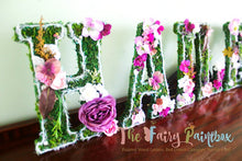 Fairy Tale Blooming Woodland Rose Nursery Room Wall Letters