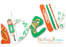 Irish Dance Nursery Room Wall Letters - Celtic Kids Room Painted Wood Letters
