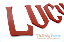 Wizard Academy Nursery Room Wall Letters - Wizard Kids Room Painted Wood Letters - Red