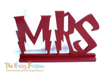Wizard Wedding Centerpiece Sign - Wizard Sweetheart Table Standing Signs - Set of 2 - Red