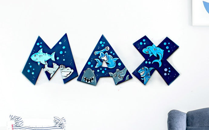 Painted Wood Wall Letters Nursery Room Decor Baby Name Signs The Fairy Paintbox