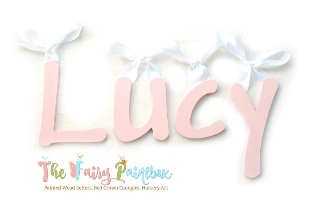 Light Pink Nursery Room Wall Letters - Light Pink Painted Wood Letters