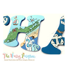 Little Sailor Nursery Room Wall Letters - Sailing Sailboat Kids Room Painted Wood Letters