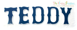 Red Sox Nursery Room Wall Letters - Sox Baseball Kids Room Painted Woood Letters - Blue/White