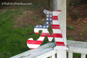 Distressed American Flag Nursery Room Wall Letters - Patriotic USA Kids Room Painted Wood Letters