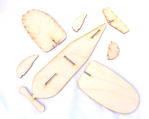 Assemble Your Own 3D Airplane Kit - Wooden Airplane Party Favor Kit
