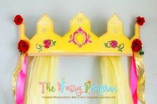 Princess Belle Crown Canopy - Rose Nursery Room Bedroom Wall Crown