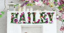 Woodland Botanical Baby Room Decor Hanging Wall Letters - Fairy Tale Kids Room Decor Letters