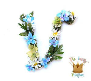 Daisy Blooming Woodland Nursery Room Wall Letters - Moss Wall Letters