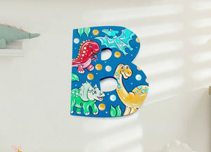 Dinosaur Baby Room Monogram Decor - Dinosaur Kids Room Decor Monogram Wall Letter