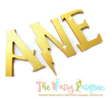 Wizard Academy Nursery Room Wall Letters - Wizard Kids Room Painted Wood Letters - Gold Glitter