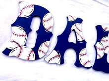 Sox Baseball Nursery Room Wall Letters - Baseball Kids Room Painted Wood Letters