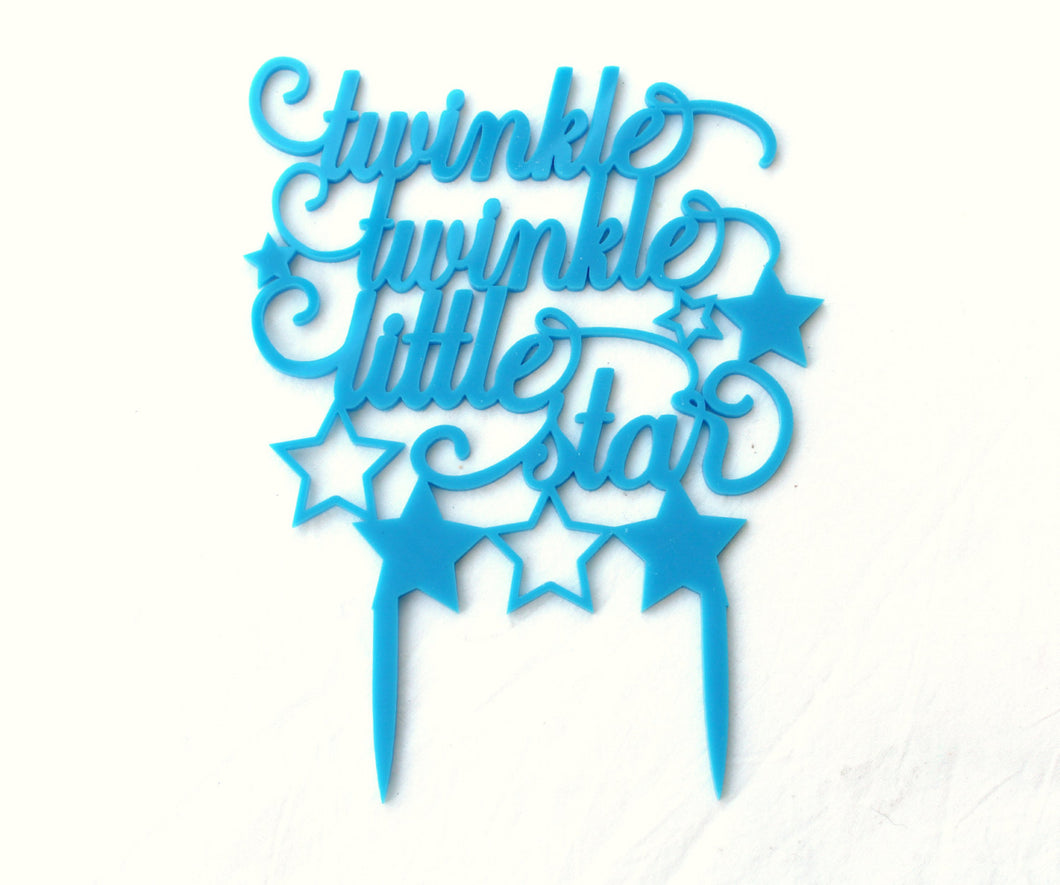 Twinkle Star Cake Topper - Baby Shower Cake Topper