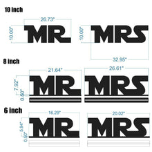 Star Jedi Wars MR and MRS Sweetheart Table Signs - MR MRS Sweetheart Table Star Wars Wedding Signs - Set of 2 - Black