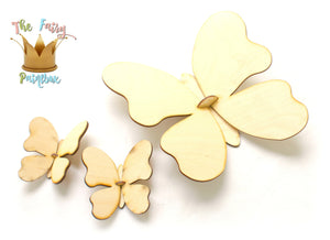 3D Butterfly Wall Shape Assembled, Ready-to-Paint Butterfly