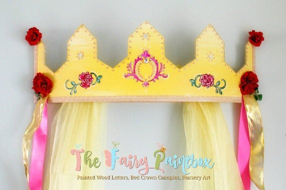 Rose Crown Canopy - Beauty & the Beast Nursery Crown for Wall - Wall ...