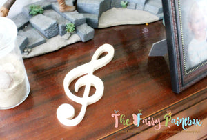 Swirl Treble Clef Wood Shape, Music Nursery Wall Shapes Unpainted Wood, Assorted Sizes, Wood Treble Clef Photo Prop, Newborn Wedding Prop