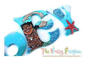 Moana Nursery Room Wall Letters - Moana Kids Room Painted Wood Letters