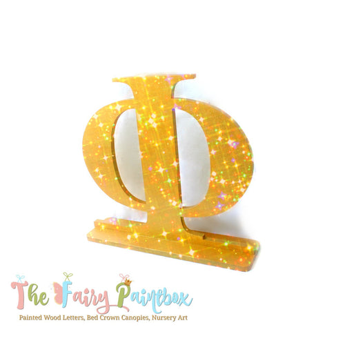 Glitter Greek Table Letter - Greek Standing Letter - Greek Table Centerpiece - Greek Wedding Table Letter - Greek Centerpiece Decoration