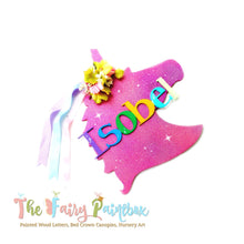 Sparkle Unicorn Nursery Room Sign - Personalized Unicorn Kids Room Wall Sign