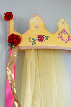 3D Princess Enchanted Rose Bed Crown Canopy - Wall Crown Canopy
