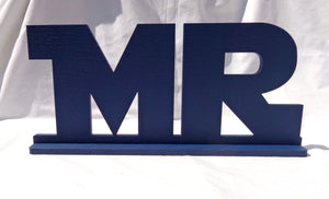 Star Jedi Wars MR and MRS Sweetheart Table Signs - MR MRS Sweetheart Table Star Wars Wedding Signs - Set of 2 - Navy Blue
