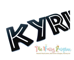 Jurassic Nursery Room Wall Letters - Dinosaur World Kids Room Painted Wood Letters