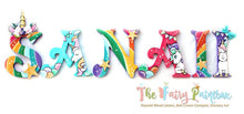 Rainbow Unicorn Nursery Room Wall Letters - Rainbow Unicorn Kids Room Painted Wood Letters