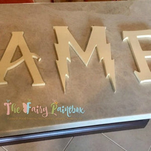 "Unfinished Wizard Academy Wooden Letters - Unpainted Wizard Wood Letters - 1/2"" thick"