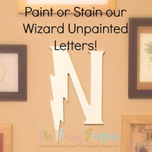 "Wizard Wooden Letters - Unpainted Wood Letters - Paint Your Own Wizard Wall Letters - 1/2"" thick"