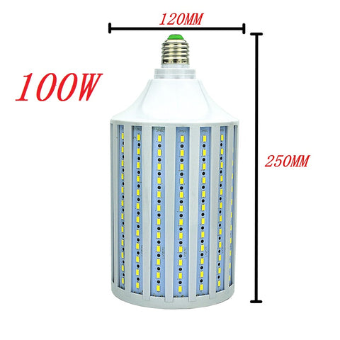 100W Watts LED Corn Bulb - Save money with LED lights - E 26 and E39