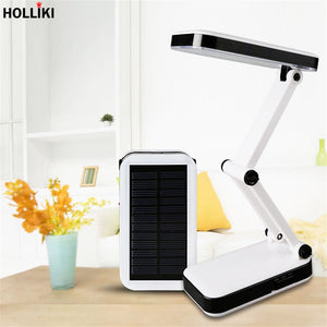 Solar Battery 24W LED Desk Table Lamp Rechargeable Foldable Adjustable