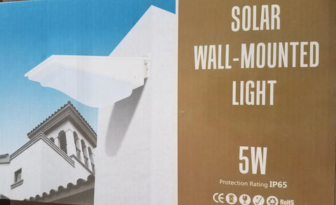 Solar Wall-Mounted LED Light - 5W
