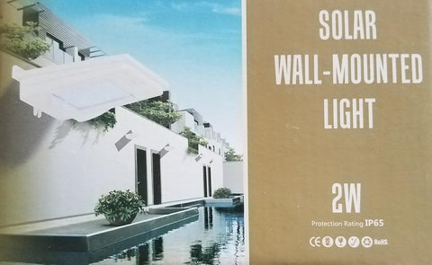 Solar Wall-Mounted LED Light - 2W