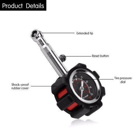 0-100 PSI Tire Pressure Gauge Tire Air Tester