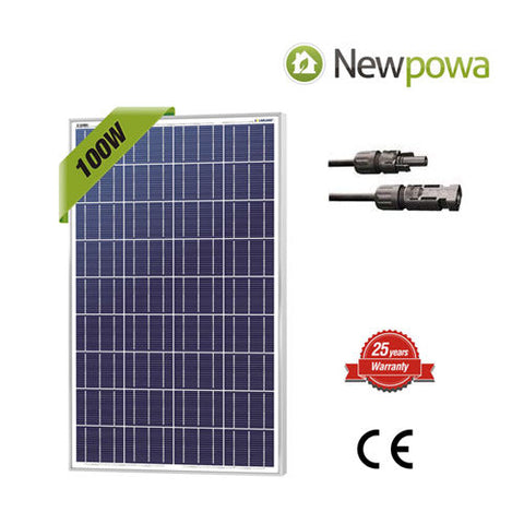 100 Watt 100W Watts Solar Panel 12V Volt Poly Off Grid Battery Charge RV
