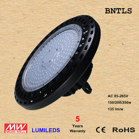 250W High power UFO LED High Bay Light IP65 SMD3030 LED Chip