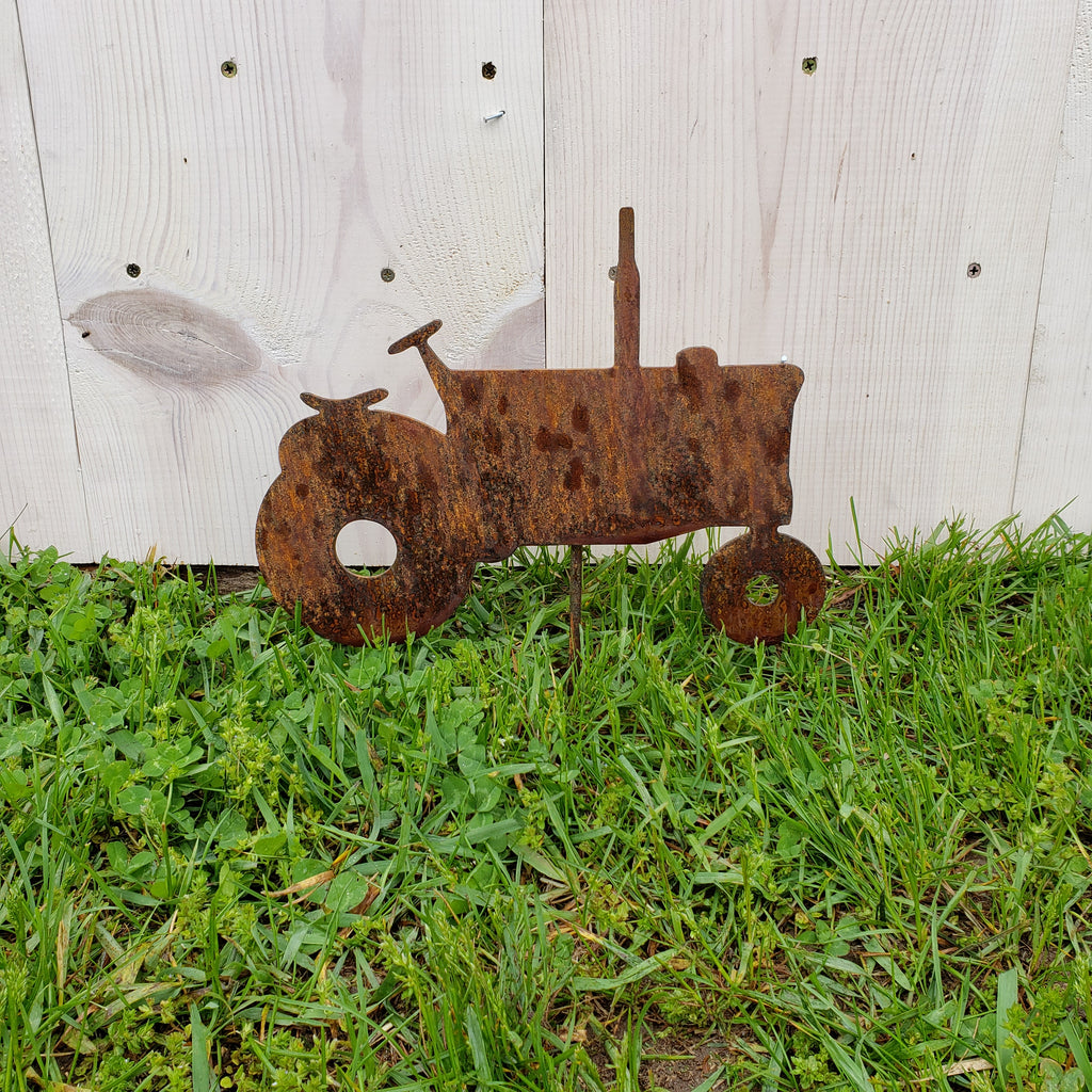 image of tractor garden decor