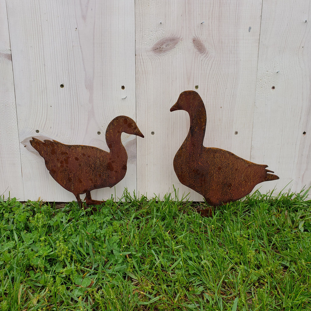 image of geese garden decor