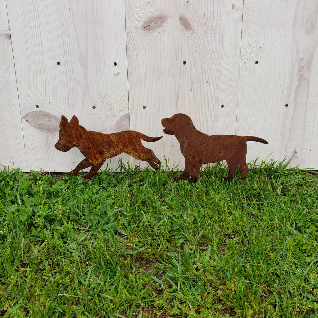 image of dogs garden decor