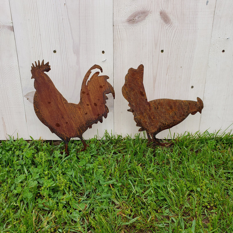 image of chickens garden decor