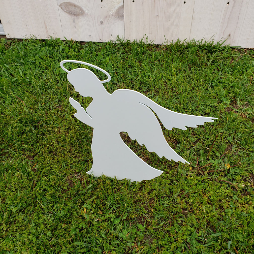 image of praying angel garden decor