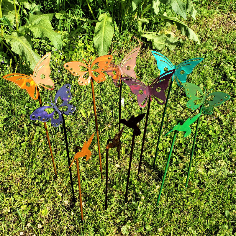 image of transparent color Butterfly Garden Decoration