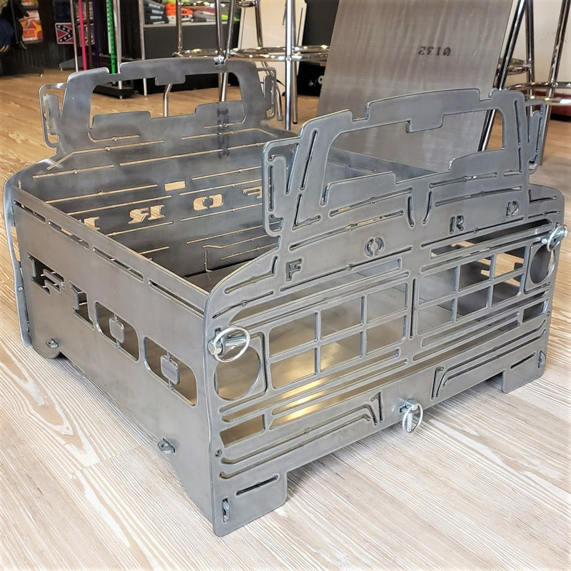 image of side 1972 F100 Bumpside Portable Collapsible Fire Pit Grill
